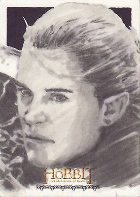 Hobbit Desolation Of Smaug Sketch Card - Joe Corroney - Legolas!