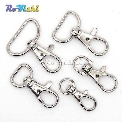 Matel Lanyard Swivel Snap Hooks Lobster Clasps Clips For Paracord Backpack