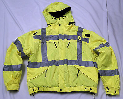 5.11 Tactical High Visibility Yellow Reversible Jacket Style 48037 Mens Large