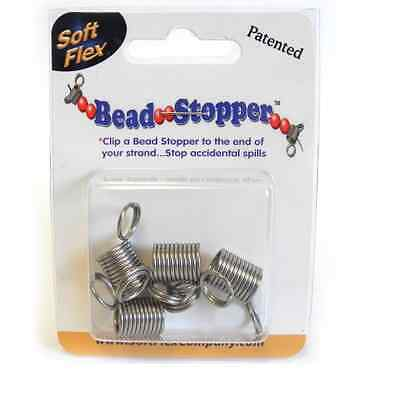 Soft Flex Large Bead Stoppers Plain Tip Pack of 4 Stringing Necklace Beads -FB41
