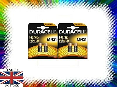 4 X Duracell MN21 A23 12V K23A 23A LRVO8 Alkaline Battery NEW FAST FREE POST