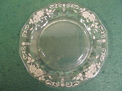 Fostoria Salad Or Desert Plate Midnight Rose Pattern