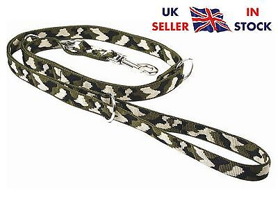 Camo 185cm 6 ft Strong Police Style Long Dog Training Adjustable Lead Leash