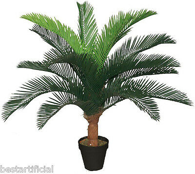 Best Artificial 2.5ft 75cm Cycas Fern Plant Tree Tropical Office Conservatory