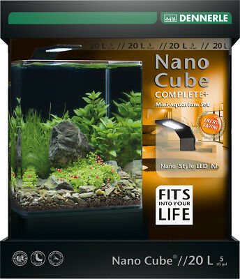 Dennerle Nano Cube 20L Complete Plus Aquarium Tank with Substrate Light & Filter