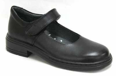 New CLARKS INDULGE JUNIOR BLACK SCHOOL SHOE