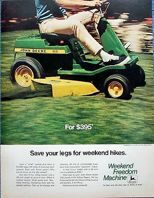 1970 John Deere Lawn Tractor Power Mower Save Legs For Weekend Hikes ad