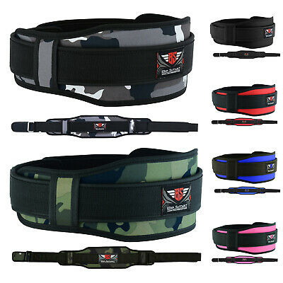 Weight Lifting Belt Gym Training Back Support Neoprene Lumber Pain Fitness Camo
