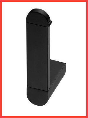 Bisk Futura Black 02962 Recovery Toilet Roll Holder, Black Satin - Bathroom