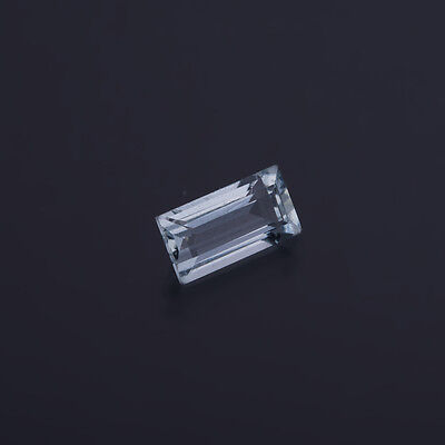 aguamarina genuina - Rectángulo 7,7x4,4mm 0,84 Ct 8)