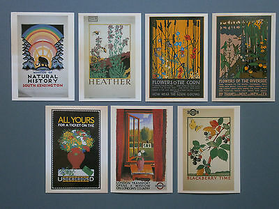 7 X 1980's Camden Graphics Pc London Transport Posters From 1915 - 1933
