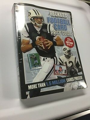 New! Beckett Football Card Price Guide ~ 2010 - 2011 Paperback ~ 27th Edition