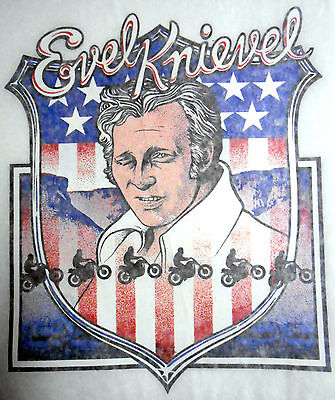Vintage 1974 Original Evel Knievel iron-on Transfer