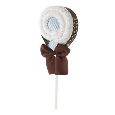 NEW Baby Chocolate Lollipop Blue Washer