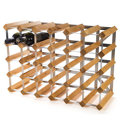 NEW Traditional Wine Rack Co. Light Oak Wine Rack 30 Bottles