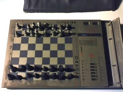 Scisys Turbo 16K Kasparov Electronic Tabletop Chess Game~17 Levels~Used~Works