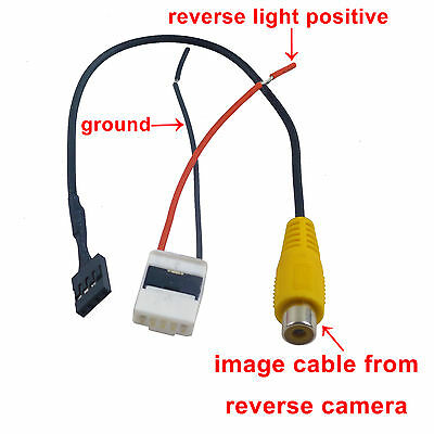 Video Harness for Toyota OEM Stereo to Reverse camera Yaris Kluger Hilux 09-12