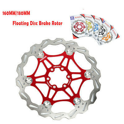 160MM/180MM MTB Bicycle 7075 Alloy Floating Disc Brake Rotor + 6 Bolts