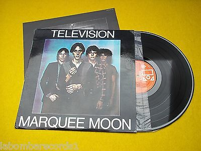 Television Marquee Moon SPAIN 1977 (EX/M-) insert ultra r♫re TOP  lp vinyl  Ç