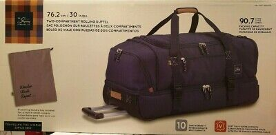 "Skyway Two Compartment Rolling Duffel Bag 90.7L Drop Bottom 30"" / 76.2cm Travel"