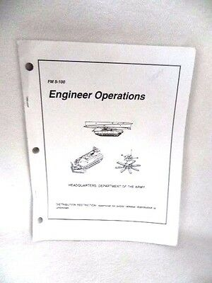 Manual Book Three Holed Punched FM 5-100 Engineer Operations February 1996