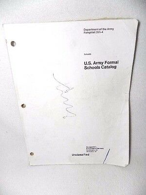 U.S. Army Formal Schools Catalog Pamphlet 351-4 October 30, 1992 Army