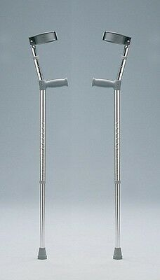 Lightweight Crutches Days Elbow Closed Cuff Double Adjustable Height VAT Exempt