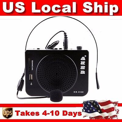 Aker MR2800 Voice Amplifier Booster Potable Microphone 16W-Output For Teacher