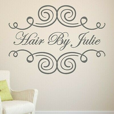 Hair Beauty salon wall sticker decal quote personalised - Shop spa hotel WQB14