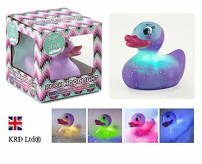 Colour Changing PURPLE RUBBER DUCK Bath Toy Bathroom Mood Light Baby Shower Gift