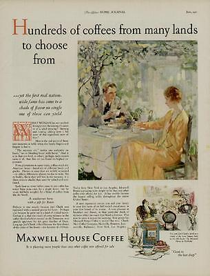 1927 Maxwell House Coffee Ad / A Blend Of Coffee From The Old South...