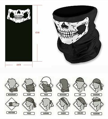 Full Function Skull Face Mask Neck Biker Motorcycle Bike Snood Bandana Balaclava
