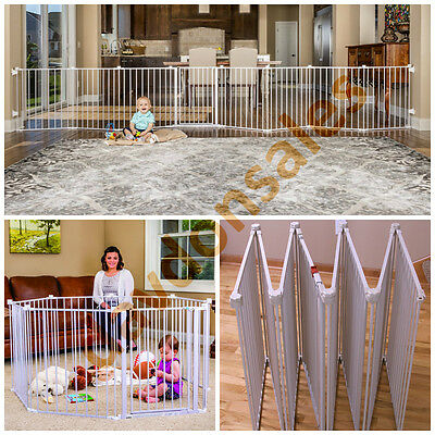Baby Gate Extra Wide Play Yard Door Tall Walk Through Safety Pet Regalo Door Dog