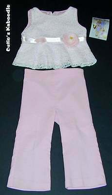 NEW NWT PLUM PUDDING Spring Tickled Pink Lace Top & Pants 2pc Set 3T