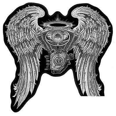 Patch moteur V-Twin ailes lady Rider  écusson thermocollant biker PF