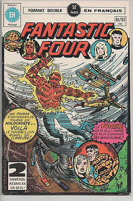 FANTASTIC FOUR #81/82 french comic français EDITIONS HERITAGE