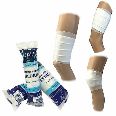 Qualicare Premium Firstaid Sterile Medical Absorbent Pad Bandage Wound Dressings