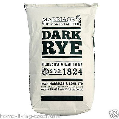 Marriage's Dark Rye Wholemeal Flour 16kg Bag