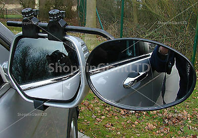 1x Single Universal Flat Glass Car Caravan Trailer Towing Extension Mirrors 8328
