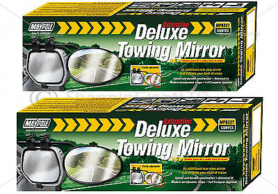2x Universal Convex Car Caravan Trailer Towing Mirror Extension Mirrors MP8327