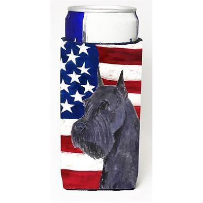 Usa American Flag With Schnauzer Michelob Ultra s For Slim Cans 12 oz.