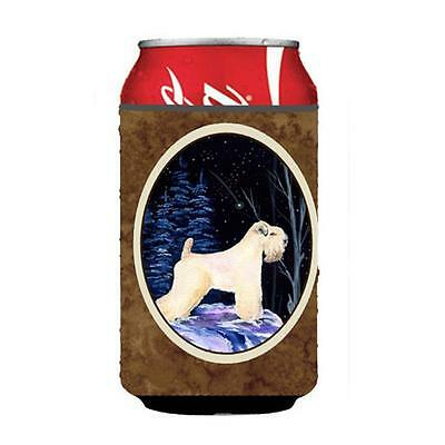 Starry Night Wheaten Terrier Soft Coated Can Or bottle sleeve Hugger