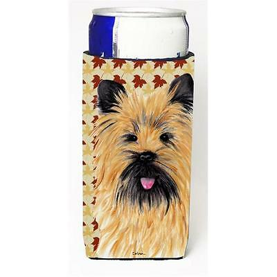 Cairn Terrier Fall Leaves Portrait Michelob Ultra s For Slim Cans 12 oz.