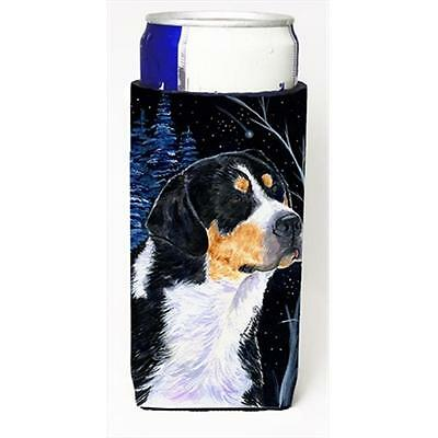 Starry Night Bernese Mountain Dog Michelob Ultra bottle sleeves For Slim Cans