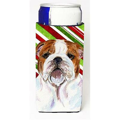 Bulldog English Candy Cane Holiday Christmas Michelob Ultra s For Slim Cans 1...