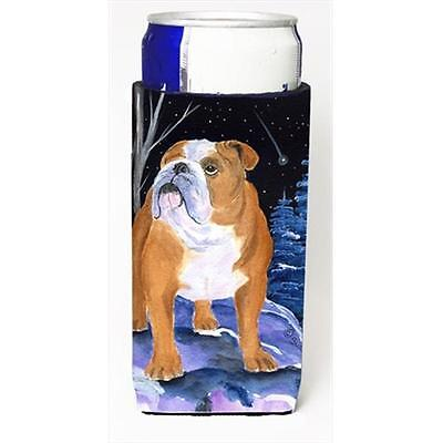 Starry Night English Bulldog Michelob Ultra bottle sleeves For Slim Cans