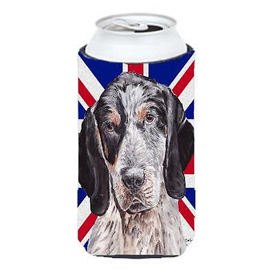 Blue Tick Coonhound With English Union Jack British Flag Tall Boy bottle slee...