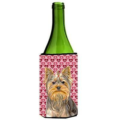Hearts Love and Valentines Day Yorkie & Yorkshire Terrier Wine bottle sleeve ...