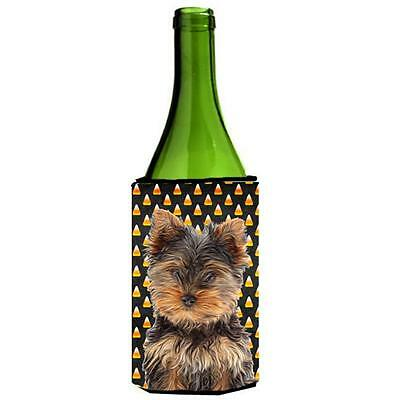 Candy Corn Halloween Yorkie Puppy & Yorkshire Terrier Wine bottle sleeve Hugger