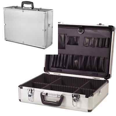 Electricians Lockable Aluminium Flight Case Toolbox Tool Organiser Storage Box